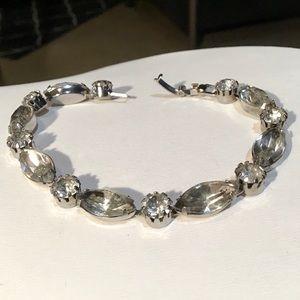 🌺VINTAGE Crystal and Silver Bracelet